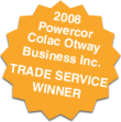 2008 Powercor Colac Otway Business Inc Trade Service Winner